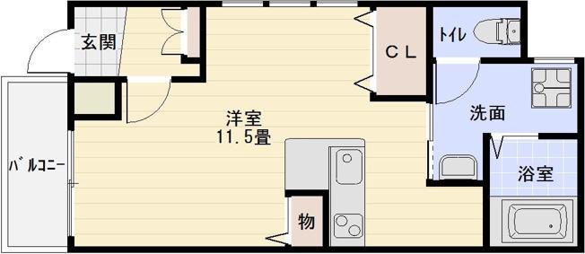 マービーハウス1 河内国分駅 大阪教育大前駅 高井田駅 1R カウンターキッチン