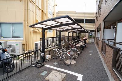 皆で使う駐輪場!