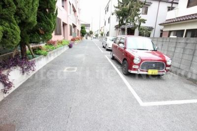敷地内の平面駐車場