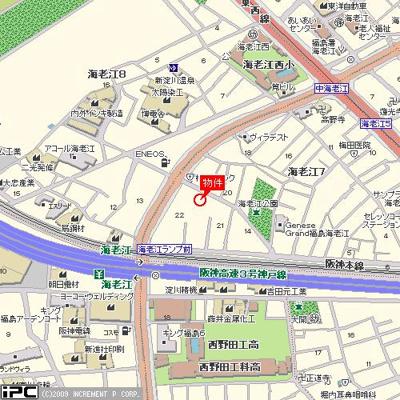 【地図】アーバンハイツ海老江 倉庫・工場