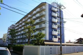 外壁もきれいに塗り替えられたばかりのマンションです
