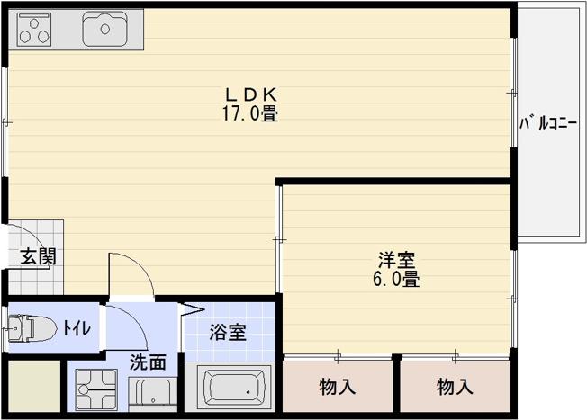 サイドテール高井田(1LDK)