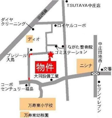 アンジェリーク福島 倉敷市福島 アパート 地図