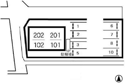 アンジェリーク福島 倉敷市福島 アパート 区画図