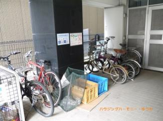 建物内に、駐輪場が有ります。