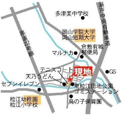 アメニティ・中村 倉敷市東粒浦 賃貸アパート 地図