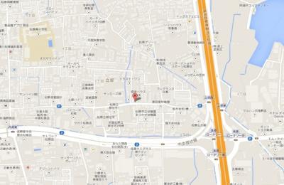 【地図】立部倉庫、約79坪