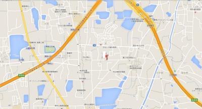【地図】美原区多治井貸土地 288坪