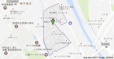 【地図】真協テラスハウス