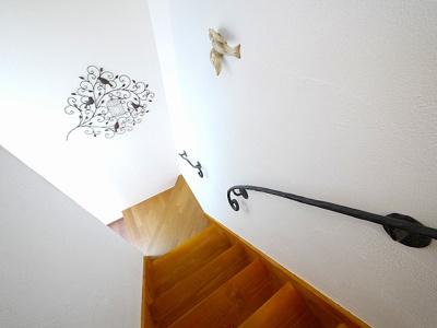オシャレな室内階段があります。