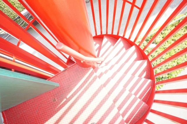 オシャレな螺旋階段です。