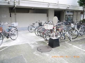 敷地内に、広々した駐輪場を完備。