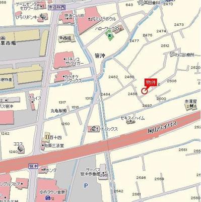ベラルーチェⅠ(倉敷市新田)物件所在地