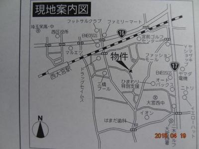 【地図】さいたま市西区三橋6丁目 新築分譲住宅全1棟