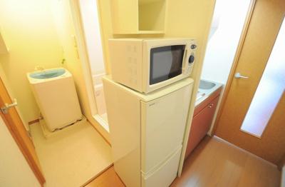 冷蔵庫・電子レンジ付き、洗濯機付き
