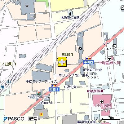 【地図】JRBハイツ倉敷
