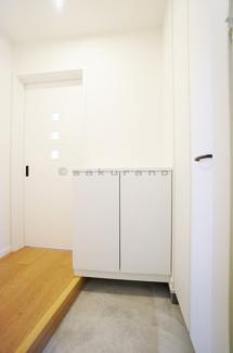 こちらはシューズボックス。なんと玄関にはシューズボックスがふたつもあります。