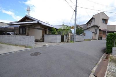 【前面道路含む現地写真】岸和田市別所町 建築条件なし宅地