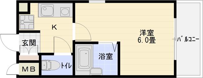 タクティ三郷 1K