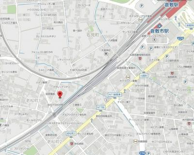 マンションみふねNo12(倉敷市老松町1丁目賃貸アパート)地図
