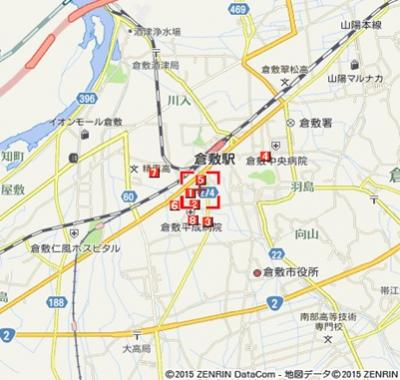 アンシャンテ(倉敷市老松町3丁目賃貸アパート)地図