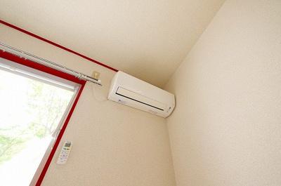 エアコンもしっかり設置されております。