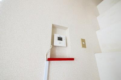 モニター付きインターホンがあればセキュリティー面も安心です。