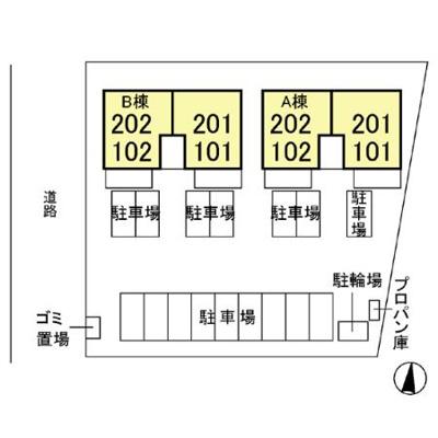 【区画図】セゾンリーブ B