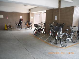 建物内にも、駐輪可能。