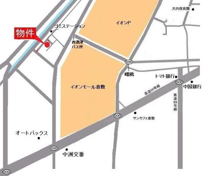 酒津タウンハウス(倉敷市酒津 賃貸タウンハウス)地図