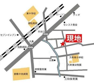 ハピネス21(倉敷市大島 賃貸アパート)地図
