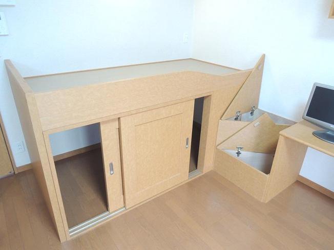 同タイプ:収納付きベッド