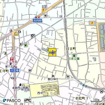 【地図】サンホーム日吉B