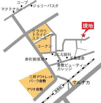 プリメール(倉敷市浜町1丁目 賃貸アパート)地図