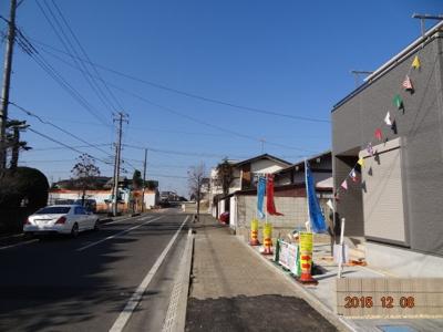 【前面道路含む現地写真】さいたま市緑区中尾 新築分譲住宅全3棟・残1棟