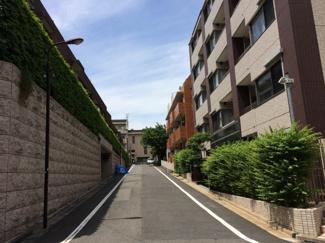 区画の整った前面道路