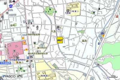 【地図】フレグランス福島A