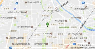 【地図】プラザハイツ