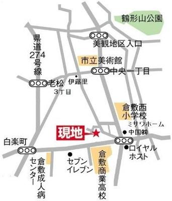 (倉敷市白楽町戸建て賃貸)地図