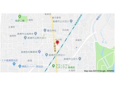 【地図】ウエストハイツP1 (株)Roots