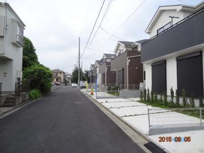 【前面道路含む現地写真】さいたま市緑区松木3丁目 新築分譲住宅全13棟・残1棟