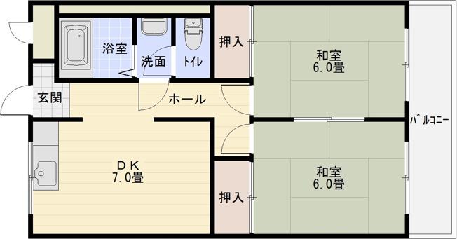 2DK 河内国分駅 大阪教育大前駅 高井田駅 セパレート