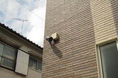 防犯カメラ設置でセキュリティ面強化。