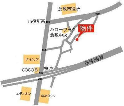 ジョイラックス(倉敷市新田 賃貸アパート)地図