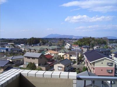 筑波山を望める眺め♪