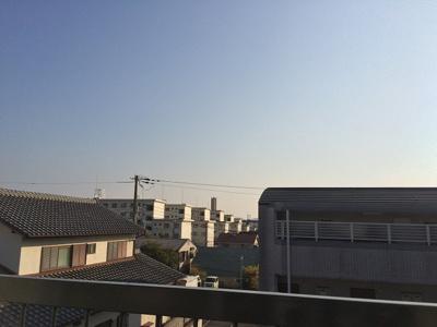 バルコニーからの景色です
