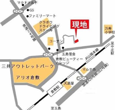 グランディール(倉敷市日ノ出町 賃貸アパート)地図