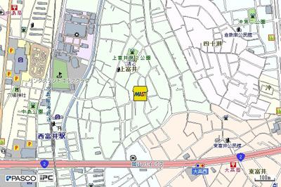 大菅邸(倉敷市上富井戸建て賃貸)地図