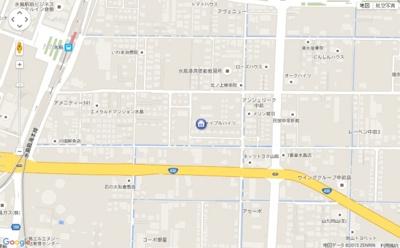 【地図】メイプルハイツ