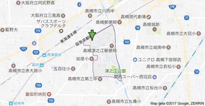 【地図】リーガルメゾン津之江Ⅰ (株)Roots